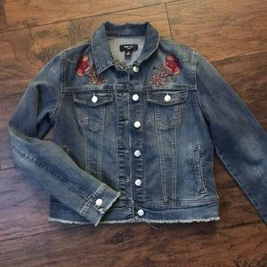 Nine West Embroidered Jean Jacket